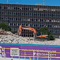 Rochdale 'Black Box' and Bus Station Demolition | 07 September 2014
